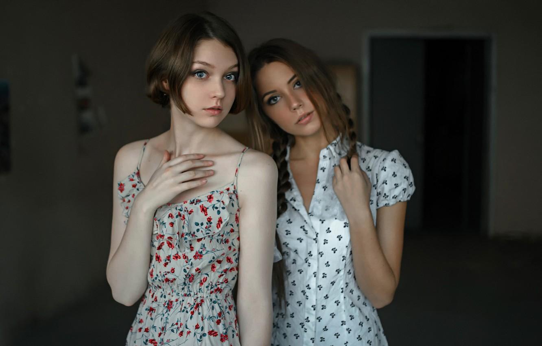 Photo wallpaper two girls, friend, Two, George Chernyadev, Kseniya Kokoreva, Ola Pushkina