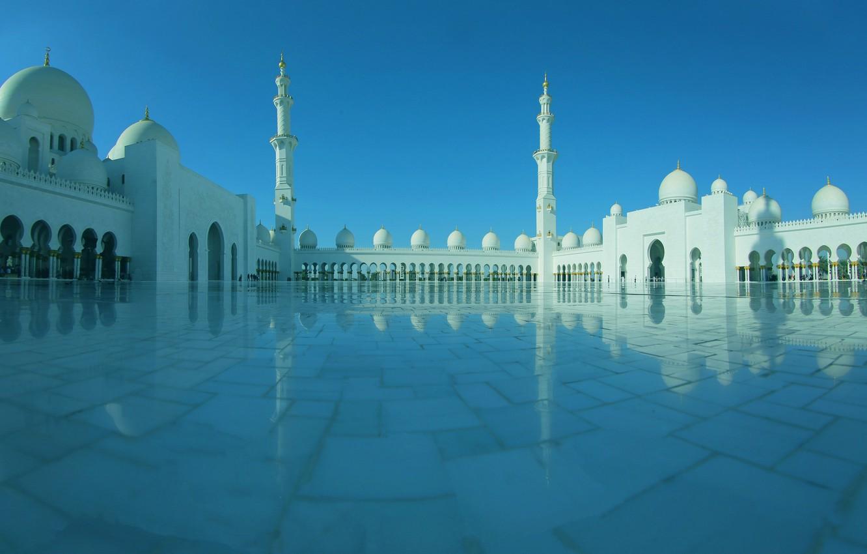 Photo wallpaper architecture, UAE, Abu Dhabi, the minaret, the Sheikh Zayed Grand mosque
