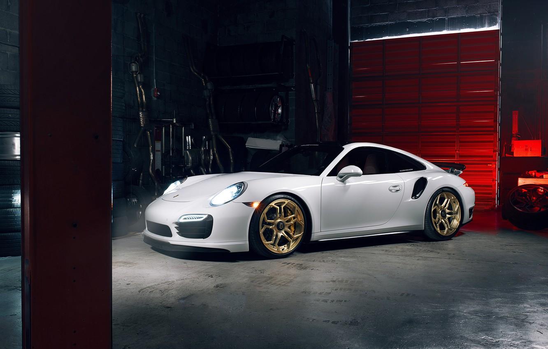 Photo wallpaper 911, Porsche, Light, Power, White, Supercar, Turbo S