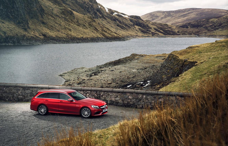 Photo wallpaper Mercedes, Mercedes, AMG, AMG, C 63, UK-spec, Estate, 2015, S205