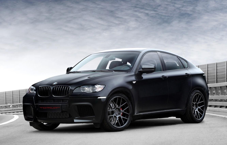 Photo wallpaper BMW, BMW, black, Ball Wed, X6 M, E71