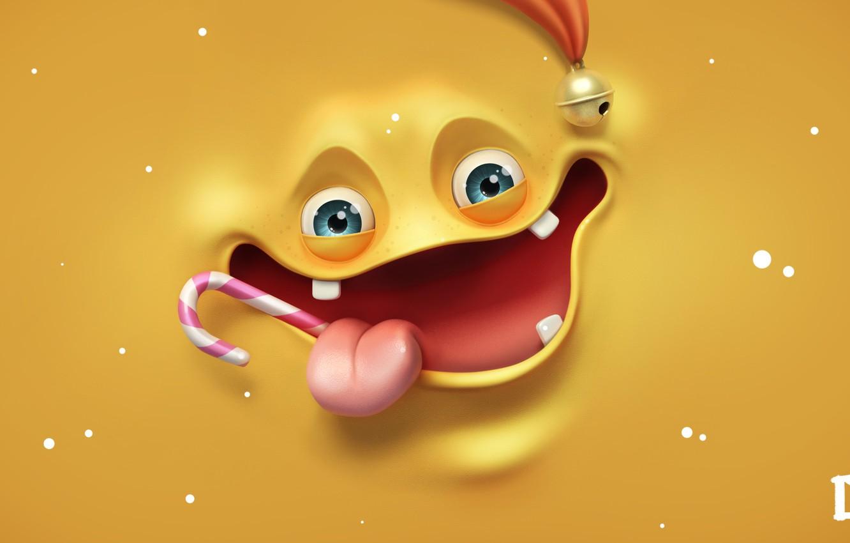 Photo wallpaper language, face, Lollipop, smile, render, melaamory, fun