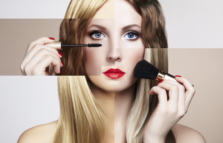Photo wallpaper girl, makeup, beautiful, bright