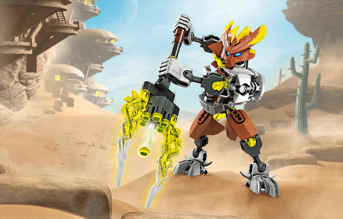 Photo wallpaper lego, LEGO, Bionicle, guardian of the stone, protect of stone, bionicle, 70779