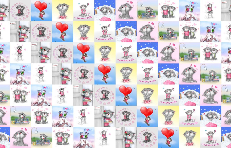 Photo wallpaper love, mood, heart, texture, art, Valentine, Alex Dolotov, heart, Valentine's Day, seals, children's