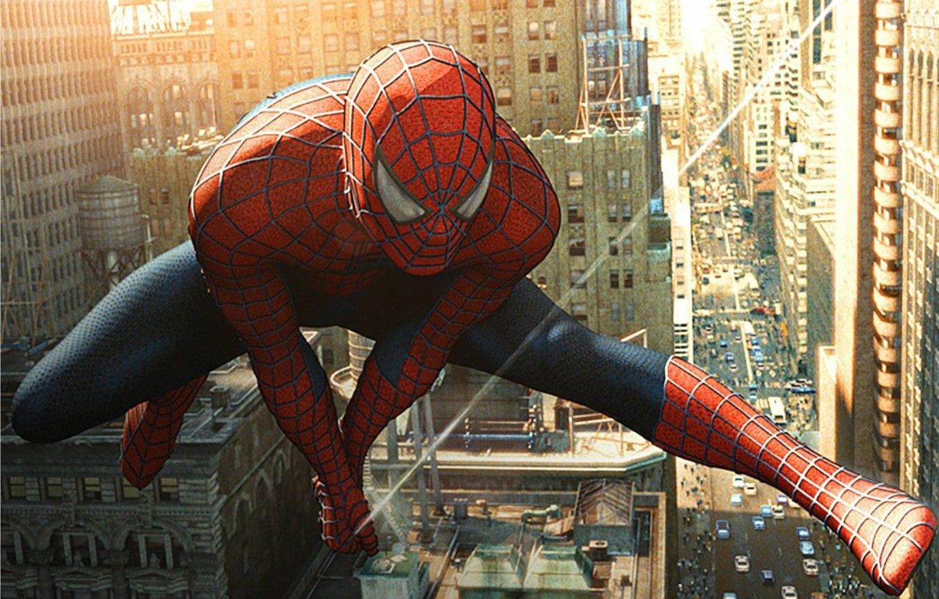 Photo wallpaper jump, the film, spider-man, Spiderman, spider-man