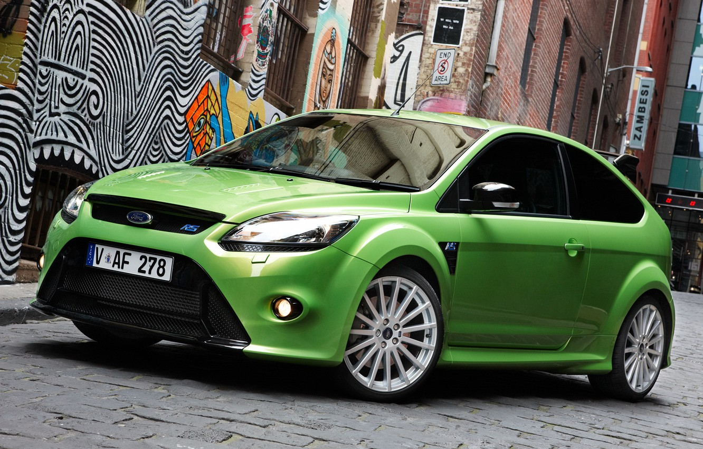 Photo wallpaper Ford, Focus, Green