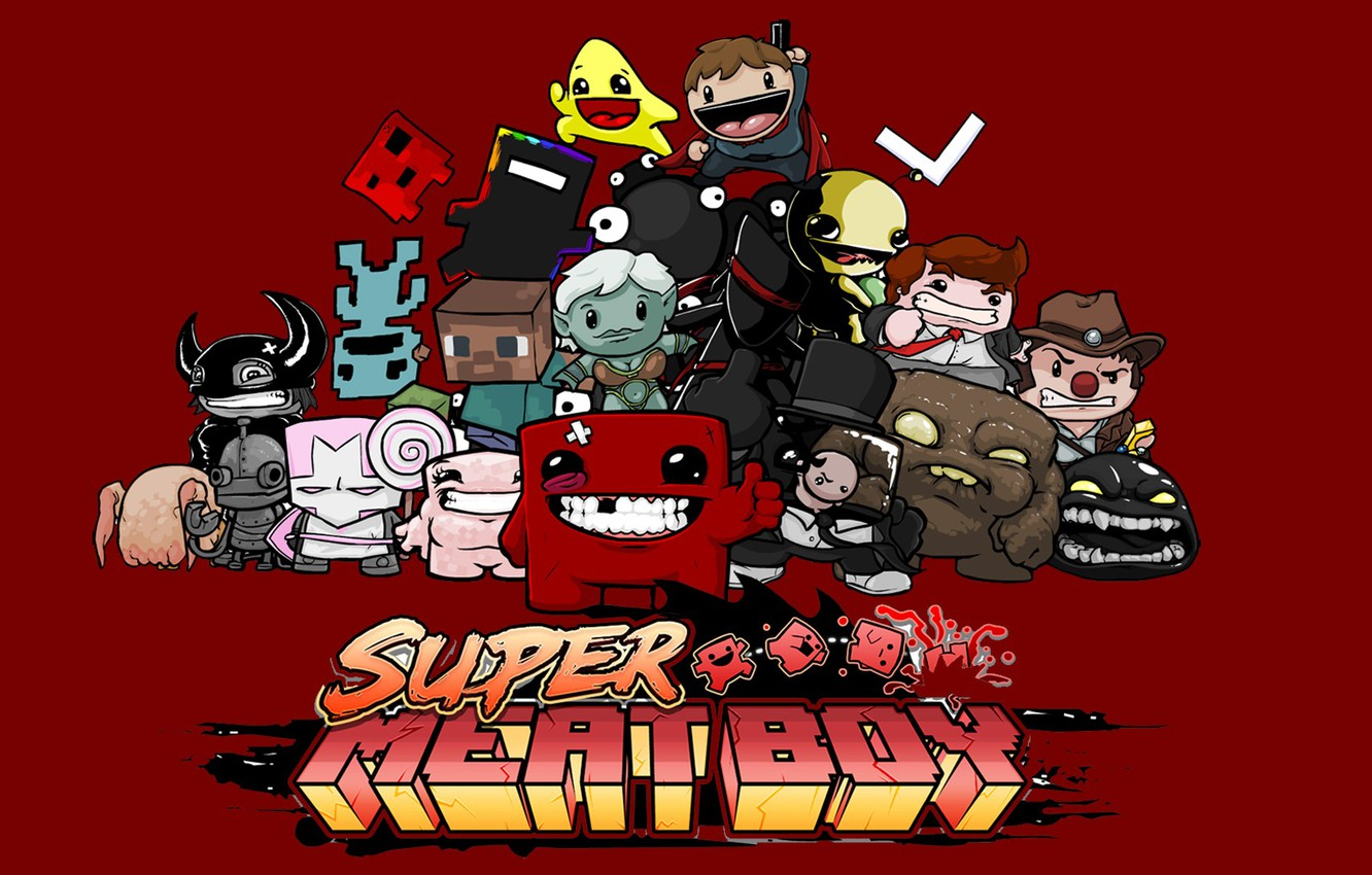 Photo wallpaper Wallpaper, the game, game, wallpapers, 1920x1080, super meat boy