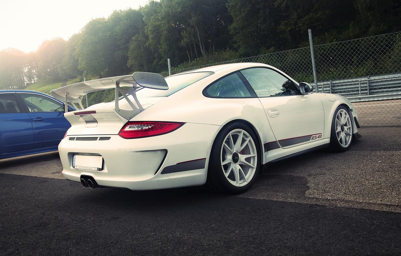 Photo wallpaper Porsche, white, GT3 RS, 4.0