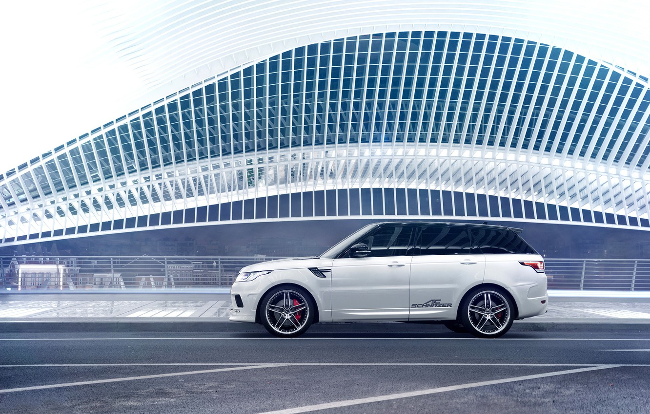 Photo wallpaper Land Rover, Car, Germany, White, Side, Sport, Rover, AC Schnitzer, Range