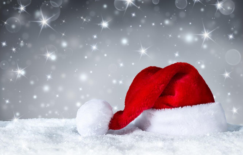 Photo wallpaper New Year, Christmas, Christmas, hat, Xmas, Santa, Merry