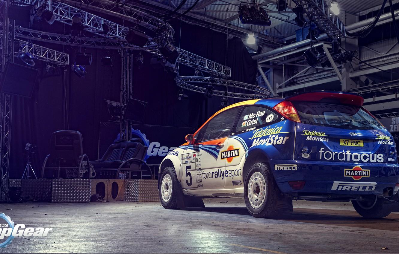 Photo wallpaper Ford, Top Gear, Focus, WRC, Colin McRae, Martini Racing