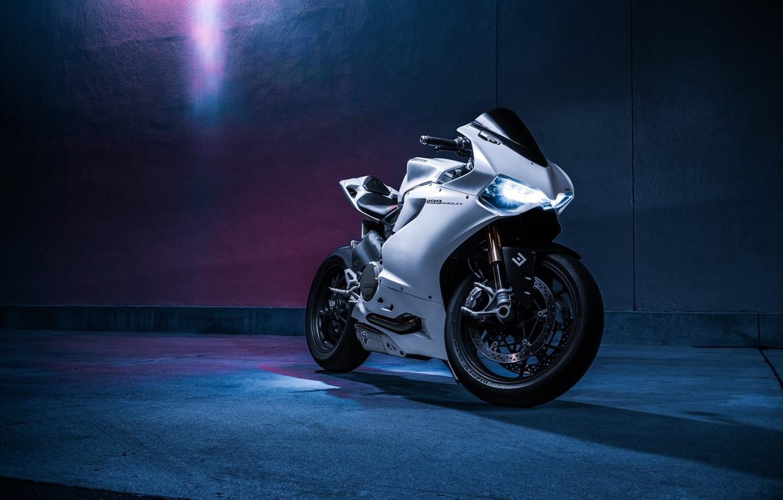 Photo wallpaper Light, Ducati, Bike, Panigale, Fast, Motorcycle, Enlaes, 1199S