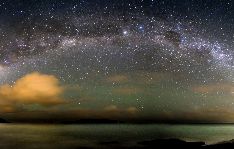 Photo wallpaper stars, The Milky Way, The Atlantic ocean