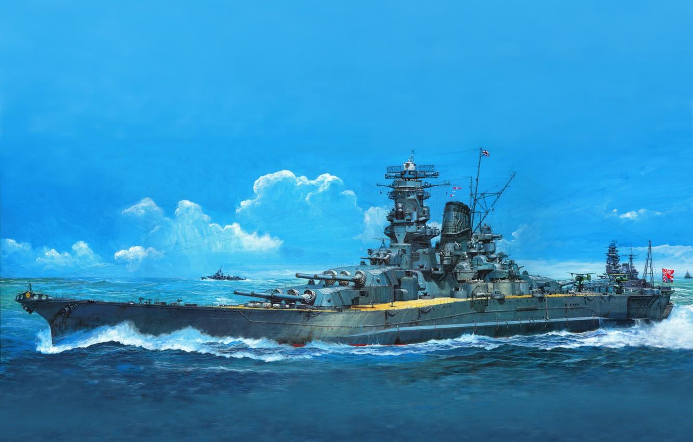 Photo wallpaper figure, art, battleship, TAMI MUSE CITY BE