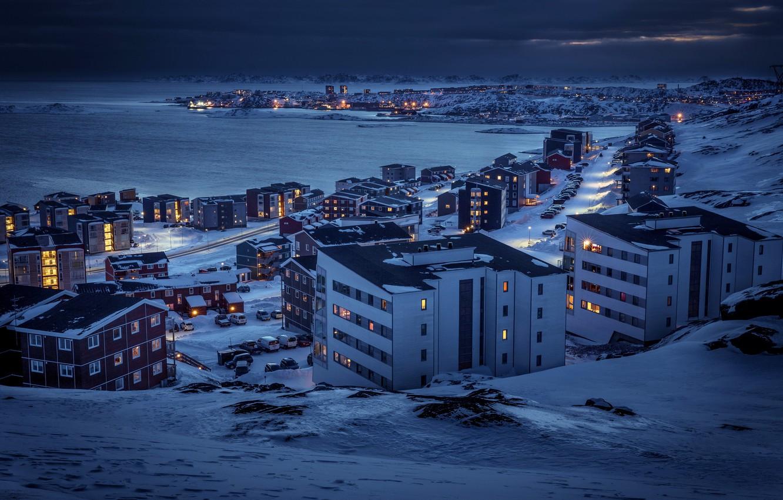 Photo wallpaper Arctic, Greenland, Nuuk, Polar, Nuussuaq