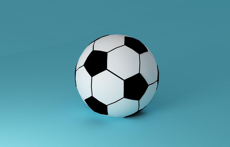 Photo wallpaper football, sport, the ball, minimalism