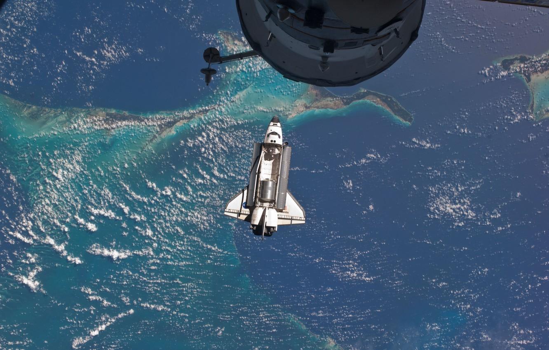 Photo wallpaper Space, atlantis, space shuttle, nasa, Atlantis, iss, last flight, international space station