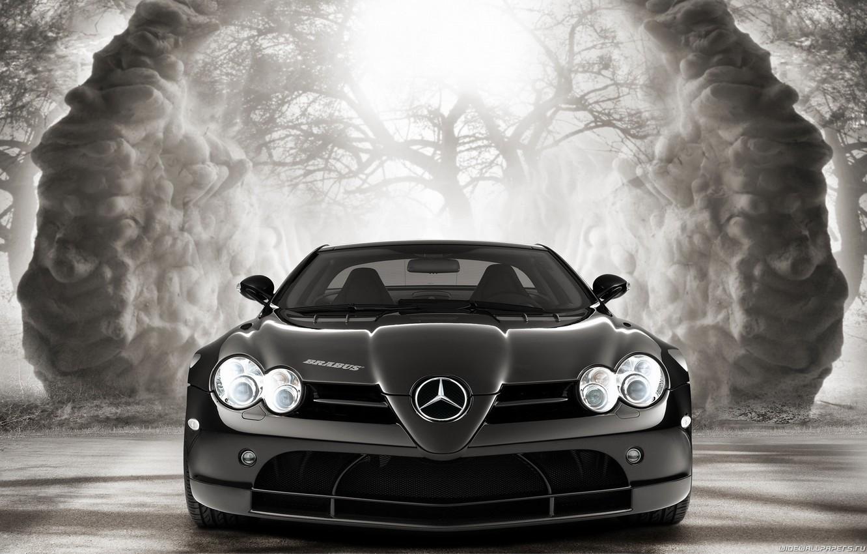 Photo wallpaper black and white, car, gelding