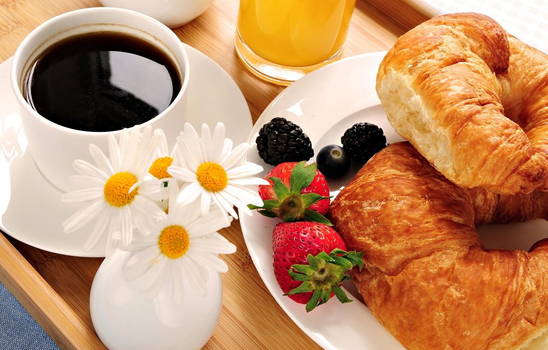 Photo wallpaper coffee, food, Breakfast
