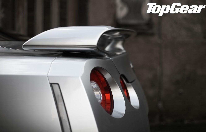 Photo wallpaper road, forest, macro, silver, nissan, GTR, supercar, spoiler, rear view, Nissan, top gear, the best …