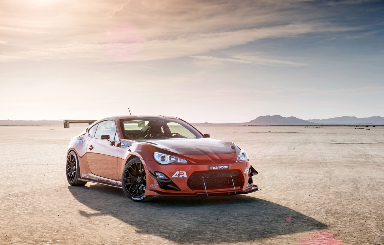 Photo wallpaper orange, tuning, Toyota, tuning, front, orange, Scion, Scion, fr-s, FR-s