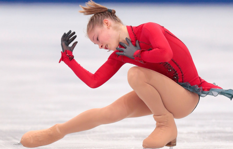 Photo wallpaper ice, figure skating, Yulia Lipnitskaya, skater