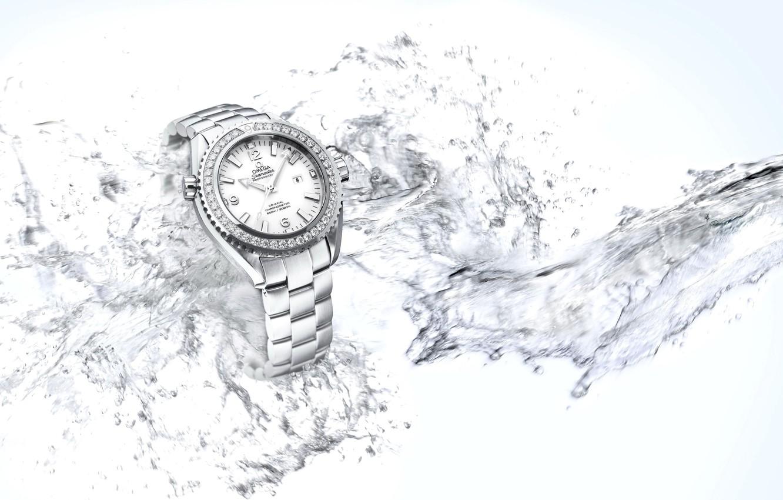 Photo wallpaper water, watch, Omega, Seamaster