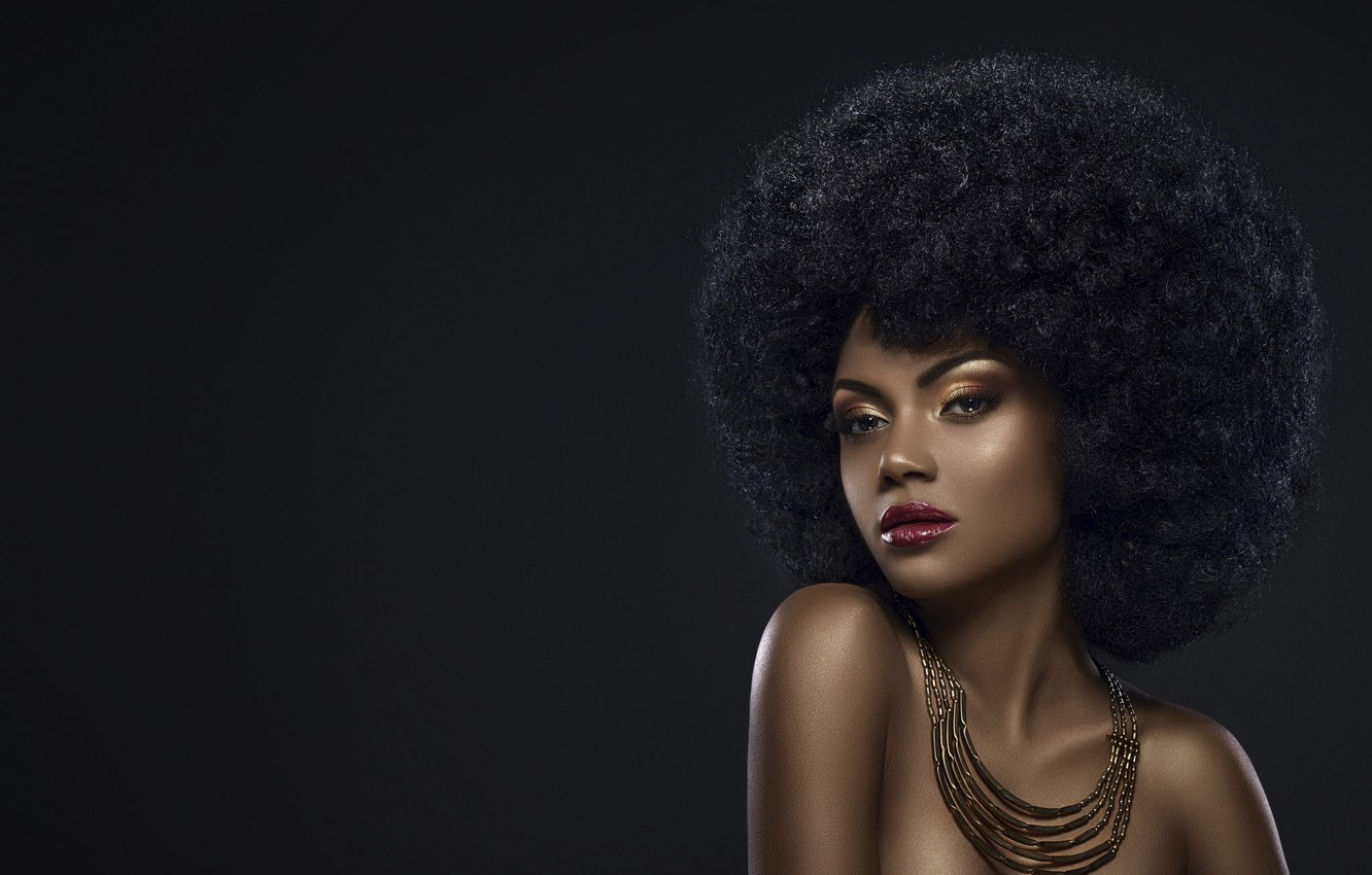 Wallpaper Hairstyle Style Glamour Bronze Black Beauty Black Girl Images For Desktop Section Stil Download