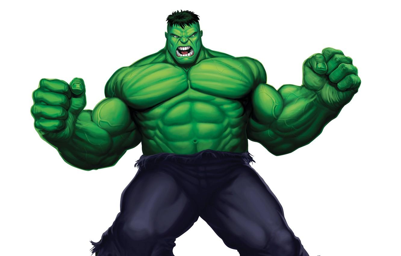 Photo wallpaper green, monster, light background, Hulk, comic, hulk