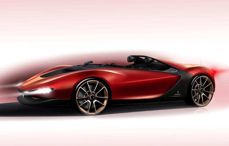 Photo wallpaper Concept, background, the concept, Ferrari, supercar, Ferrari, Sergio, Sergio