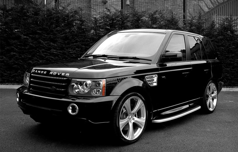 Photo wallpaper black and white, jeep, SUV, Land Rover