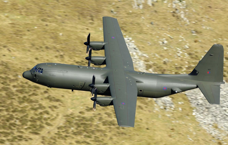 Photo wallpaper flight, the plane, military transport, Lockheed Martin, C-130, Super Hercules