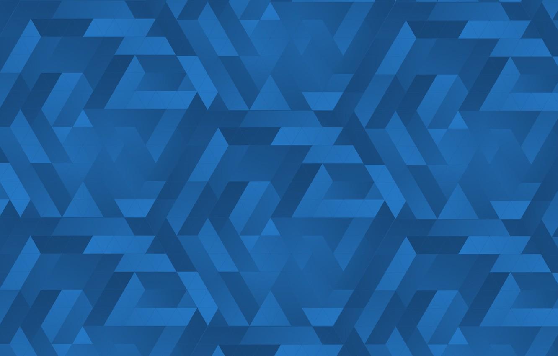 Photo wallpaper blue, triangles, texture, gradients