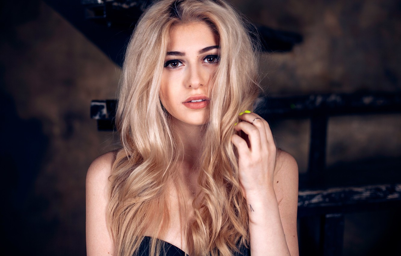 Photo wallpaper girl, hair, blonde, girl, woman, Galina Rover, Galeine Rover