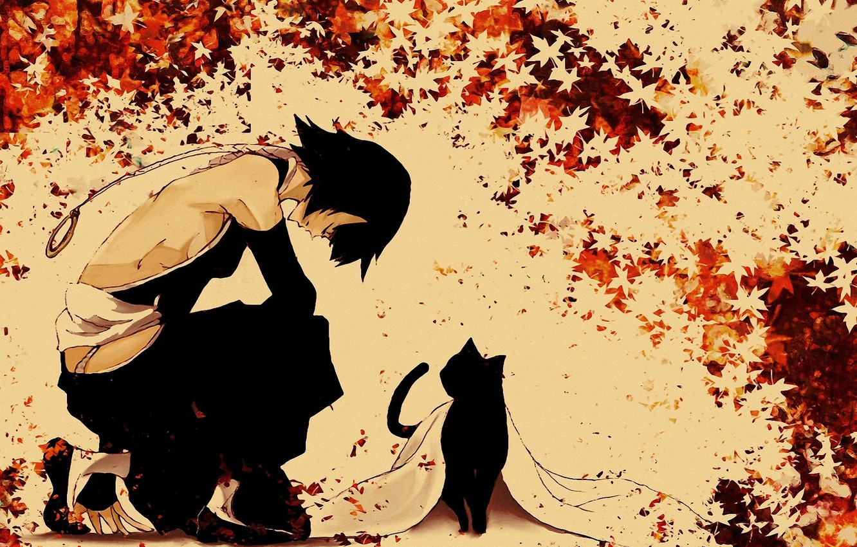 Wallpaper Bleach Bleach Shihouin Yoruichi Maple Leaves