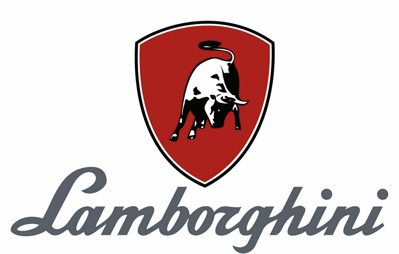 Photo wallpaper background, Lamborghini, logos, bull