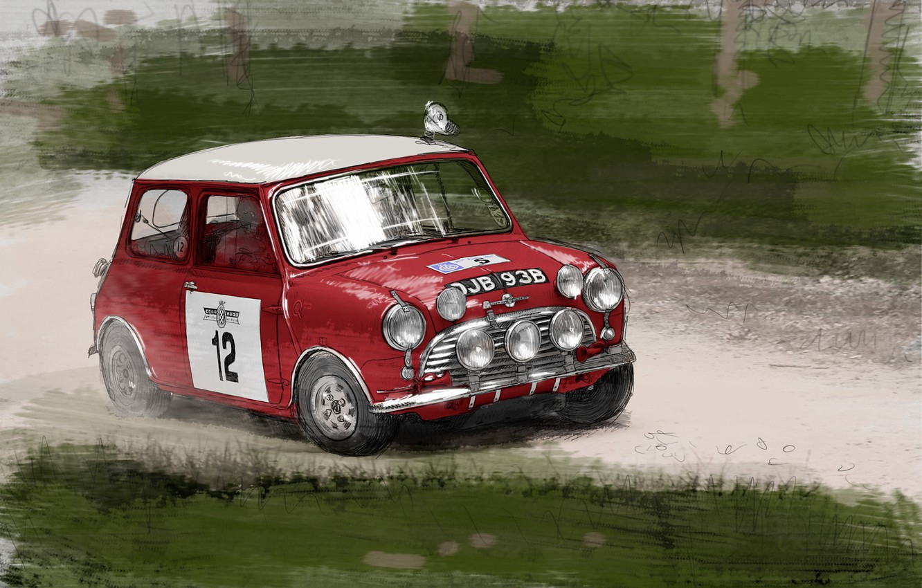 Photo wallpaper figure, Mini Cooper, Car, Mini Cooper