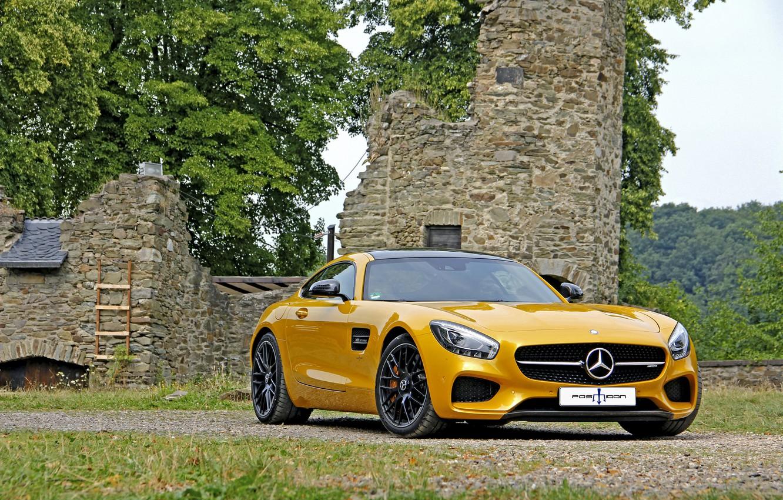 Photo wallpaper Mercedes-Benz, Mercedes, AMG, AMG, 2015, GT S, Posaidon, C190