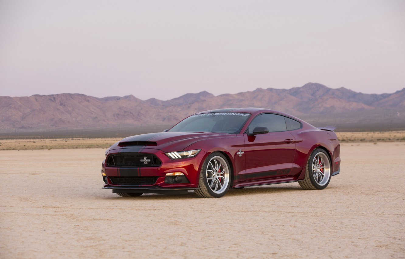Photo wallpaper Mustang, Ford, Shelby, Mustang, Ford, Shelby, Super Snake, 2015