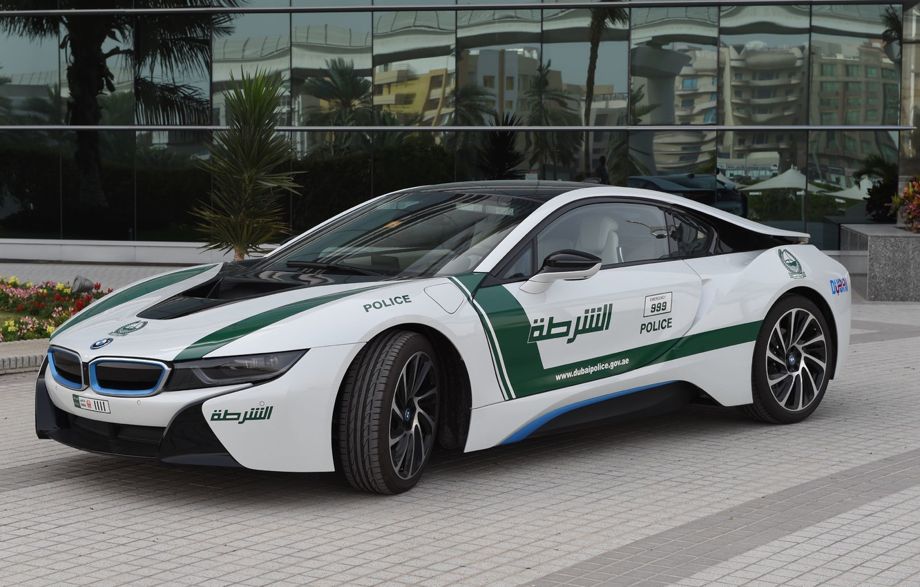 Photo wallpaper BMW, police, dubai