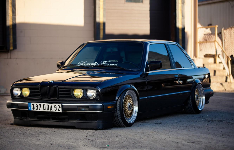Wallpaper black, BMW, BMW, black, e30, 325si images for ...