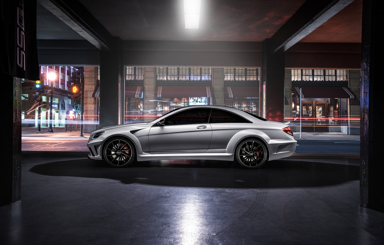 Photo wallpaper Mercedes-Benz, Body, AMG, Side, Wide, Ligth, CL63, Customs
