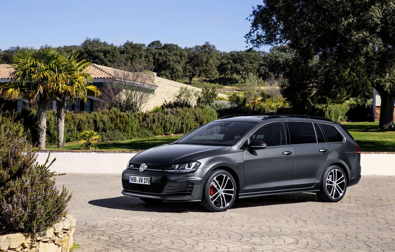 Photo wallpaper Volkswagen, Golf, Golf, Volkswagen, universal, Type 5G, GTD, 2015, Variant