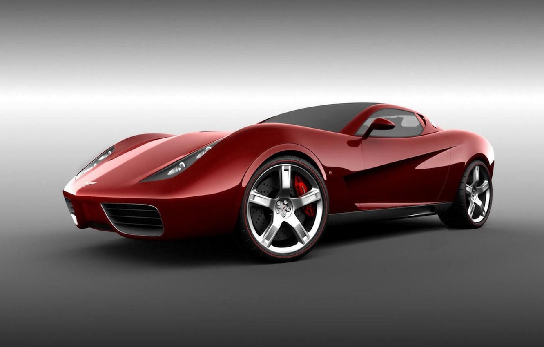 Photo wallpaper Corvette, Chevrolet, red, Design, Z03, UgurSahin, car