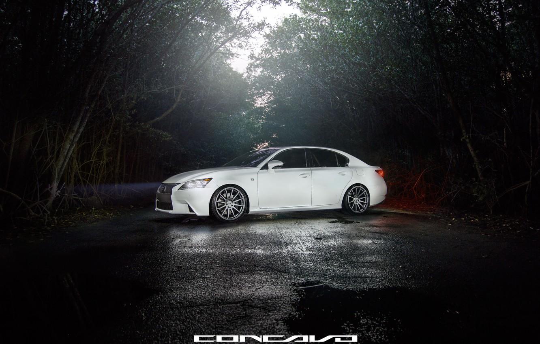 Photo wallpaper machine, auto, forest, Lexus, auto, F-Sport, Wheels, Concave, GS350
