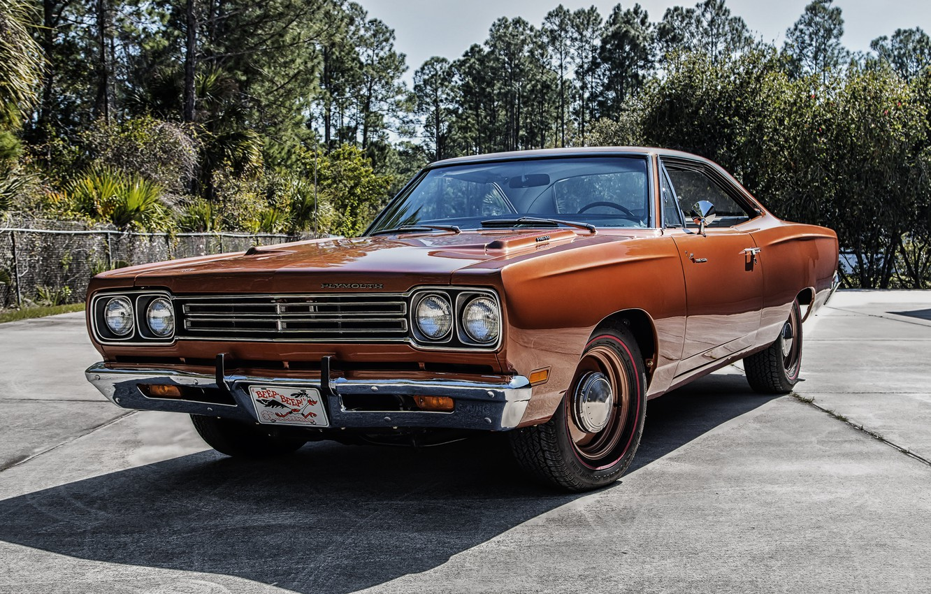 Photo wallpaper coupe, 1969, Coupe, Plymouth, Plymouth, 426, Hemi, Road Runner, road runner