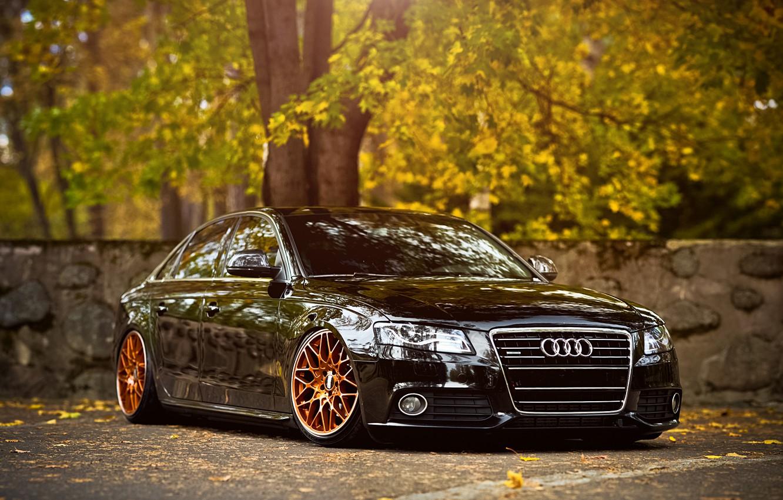 Photo wallpaper Audi, black, front