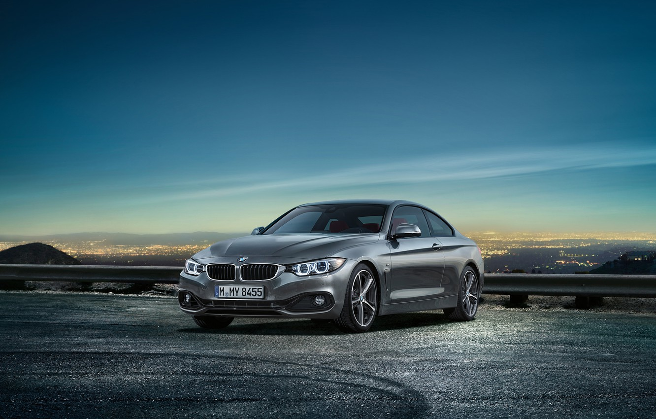 Photo wallpaper the sky, landscape, coupe, BMW, the fourth series