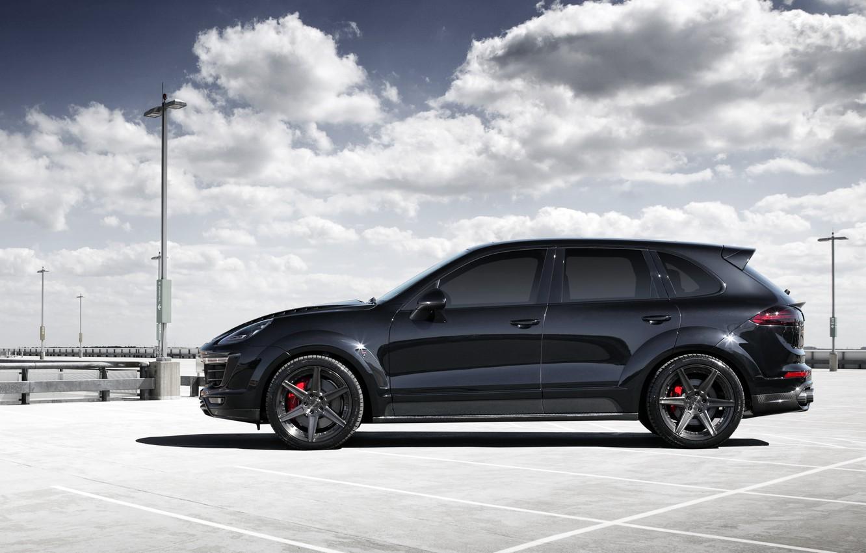 Photo wallpaper black, Porsche, Porsche, Cayenne, Cayenne, Ball Wed, 2015, Blck